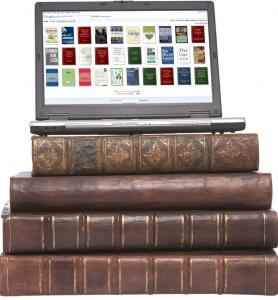 Old books and reading on an ipad or digital pad